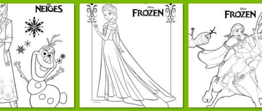 『アナと雪の女王(エルサ・アナ・オラフ)』子ども用ぬりえが無料ダウンロードできるサイト