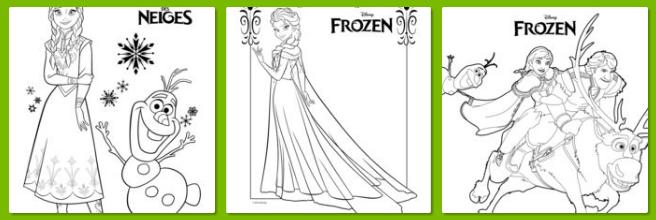 アナと雪の女王エルサアナオラフ子ども用ぬりえが無料