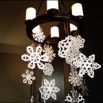クリスマス飾りに使いたい『雪の結晶』切り絵型紙テンプレート