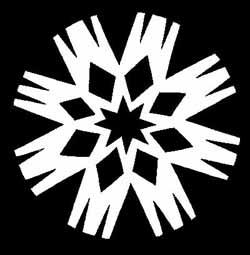 雪の結晶切り絵