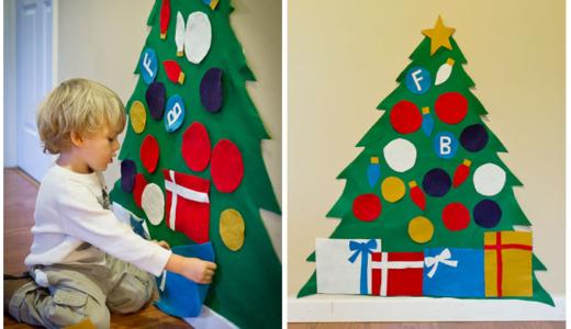 赤ちゃんがいるおうちにおすすめな『クリスマスツリー』DIYアイデア