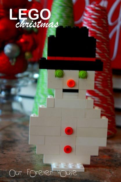 lego christmas snowman