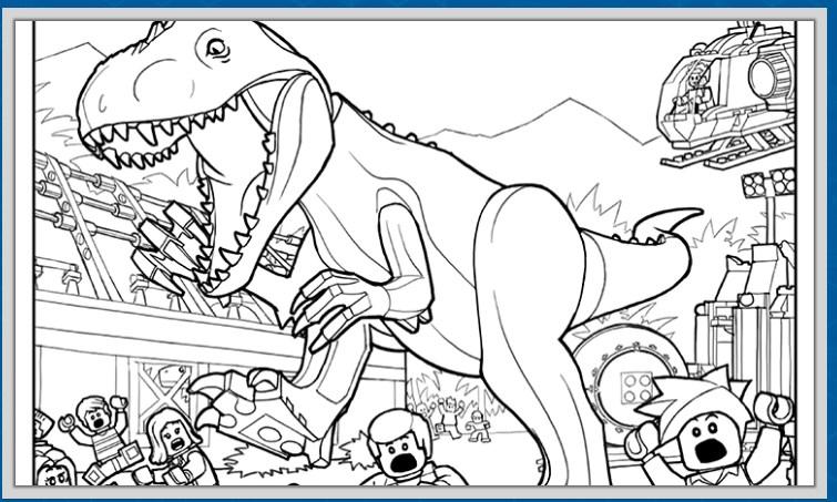 レゴ®ジュラッシック・ワールド公式サイトのアクティビティページでは3枚のぬりえをダウンロードすることができます。恐竜好きなお子様におすすめ。