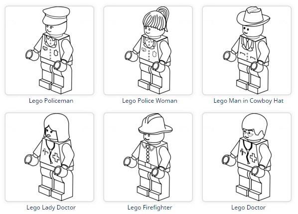 全部で200枚以上 Lego レゴ のぬりえが無料でダウンロードできる